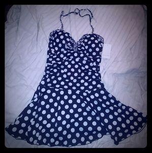 Polka Dot one piece swim suit